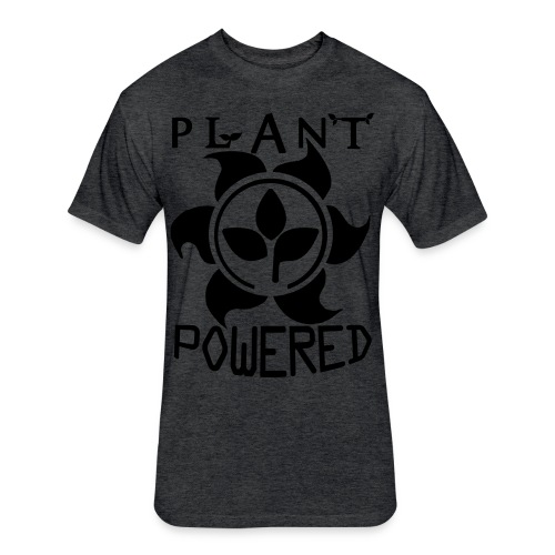 Plant Powered Neon Green Tee - Fitted Cotton/Poly T-Shirt by Next Level