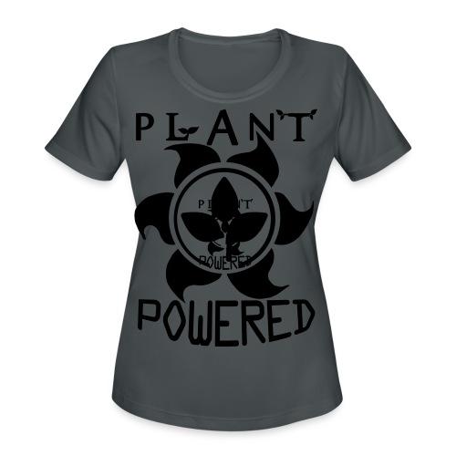 Plant Powered Neon Green Tee - Women's Moisture Wicking Performance T-Shirt