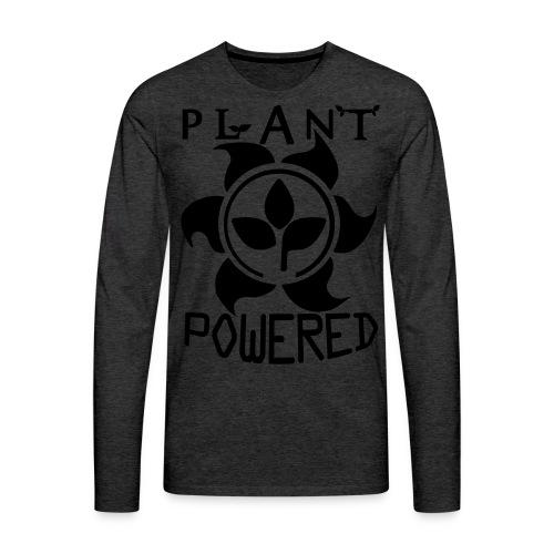 Plant Powered Neon Green Tee - Men's Premium Long Sleeve T-Shirt