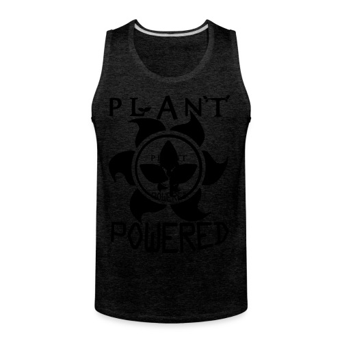 Plant Powered Neon Green Tee - Men's Premium Tank