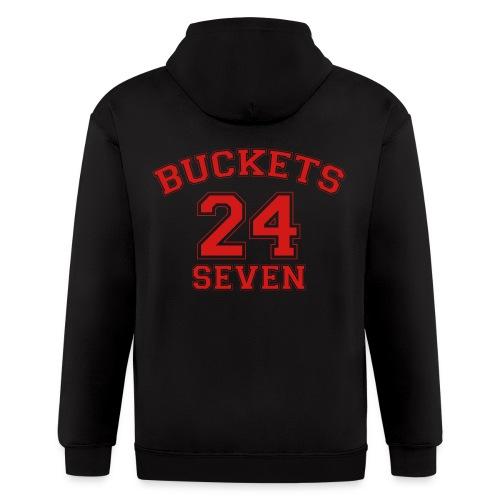 Buckets Basketball 24 Seven 24/7 - Men's Zip Hoodie