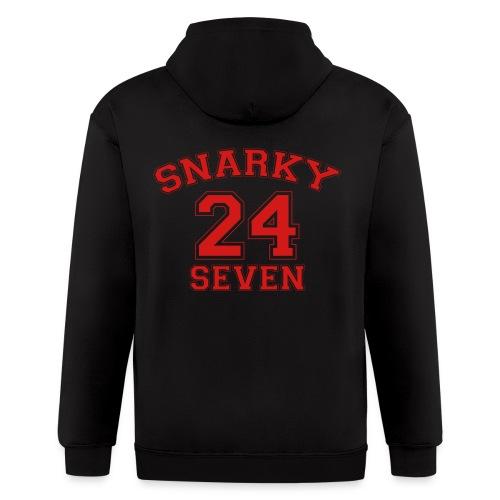 Snarky 24 Seven 24/7 - Men's Zip Hoodie