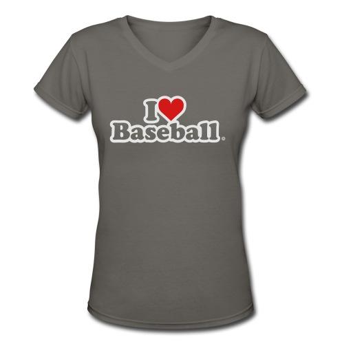 I Heart Baseball® Women's Premium Tank Top - Women's V-Neck T-Shirt