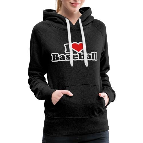 I Heart Baseball® Women's Premium Tank Top - Women's Premium Hoodie