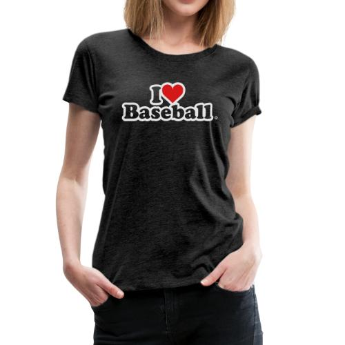I Heart Baseball® Women's Premium Tank Top - Women's Premium T-Shirt