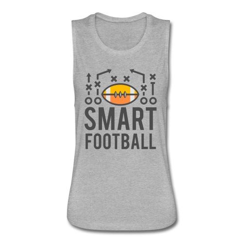 Smart Football Classic T-Shirt - Women's Flowy Muscle Tank by Bella
