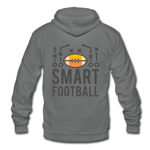 Smart Football Classic T-Shirt - Unisex Fleece Zip Hoodie by American Apparel