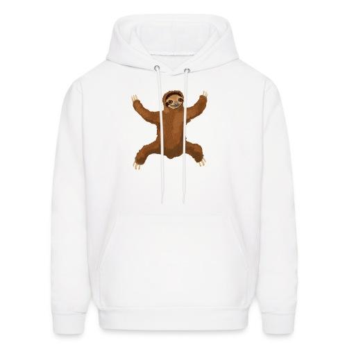 Sloth Love Hug 5 Large Buttons - Men's Hoodie