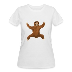 Sloth Love Hug 5 Large Buttons - Women's 50/50 T-Shirt
