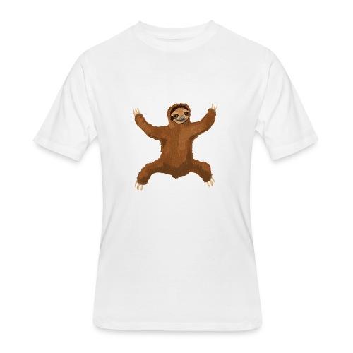 Sloth Love Hug 5 Large Buttons - Men's 50/50 T-Shirt
