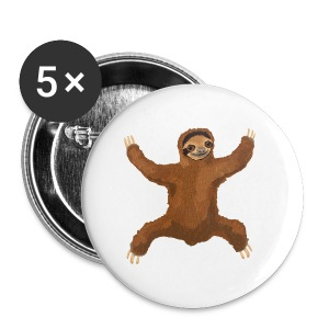 Sloth Love Hug 5 Large Buttons - Small Buttons