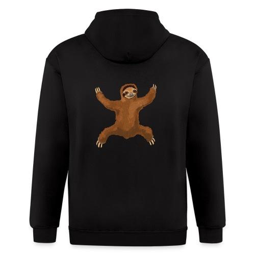 Sloth Love Hug 5 Large Buttons - Men's Zip Hoodie