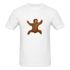 Sloth Love Hug 5 Large Buttons - Men's T-Shirt