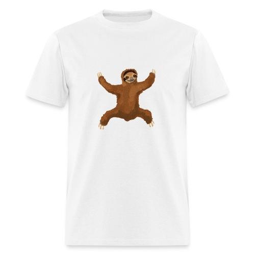 Sloth Love Hug 5 Large Buttons - Men's T-Shirt