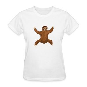 Sloth Love Hug 5 Large Buttons - Women's T-Shirt