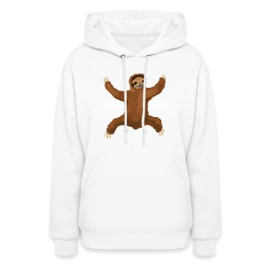 Sloth Love Hug 5 Large Buttons - Women's Hoodie