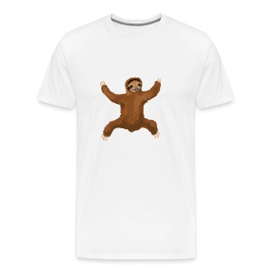 Sloth Love Hug 5 Large Buttons - Men's Premium T-Shirt
