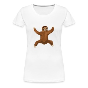 Sloth Love Hug 5 Large Buttons - Women's Premium T-Shirt