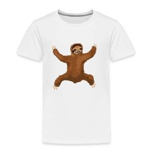 Sloth Love Hug 5 Large Buttons - Toddler Premium T-Shirt