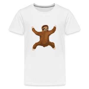 Sloth Love Hug 5 Large Buttons - Kids' Premium T-Shirt