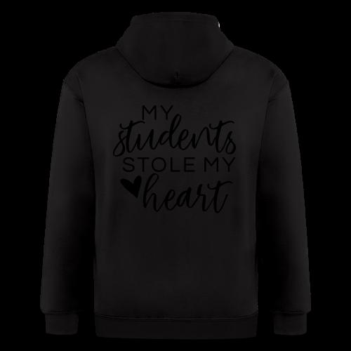 My Students Stole My Heart   Metallic Silver - Men's Zip Hoodie