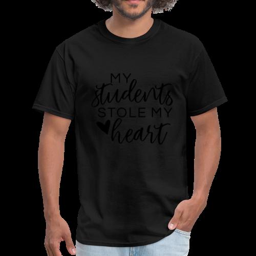 My Students Stole My Heart | Metallic Silver - Men's T-Shirt