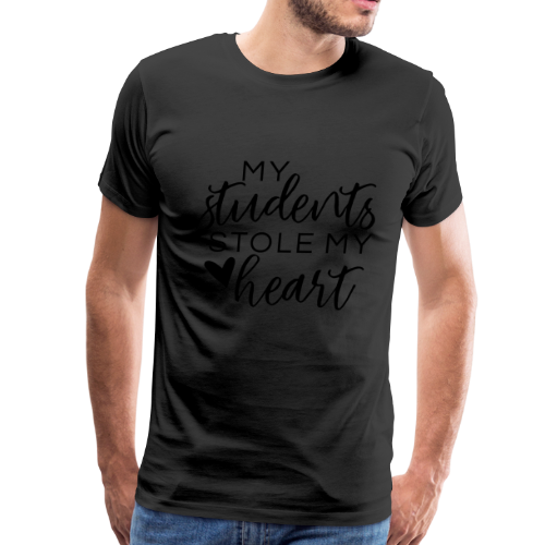My Students Stole My Heart | Metallic Silver - Men's Premium T-Shirt