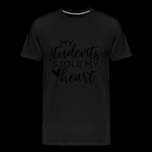 My Students Stole My Heart   Metallic Silver - Men's Premium T-Shirt