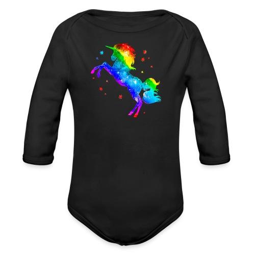 Rainbow Unicorn - Organic Long Sleeve Baby Bodysuit