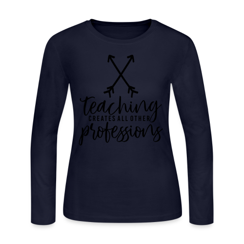 Teaching Creates All Other Professions - Women's Long Sleeve Jersey T-Shirt