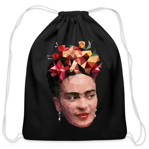 Low Poly Frida T-shirt 2 - Cotton Drawstring Bag