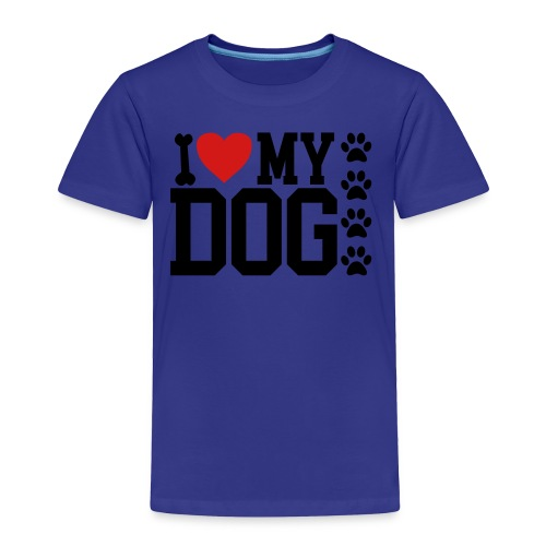 I Love My Dog shirt - Toddler Premium T-Shirt