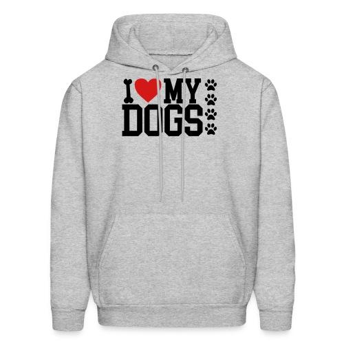 I Love my Dog shirt - Men's Hoodie