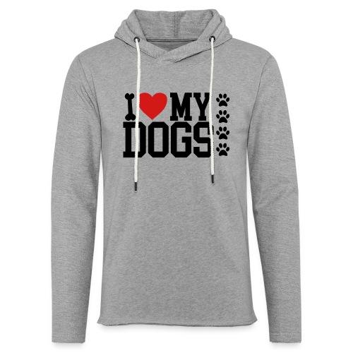 I Love my Dog shirt - Unisex Lightweight Terry Hoodie