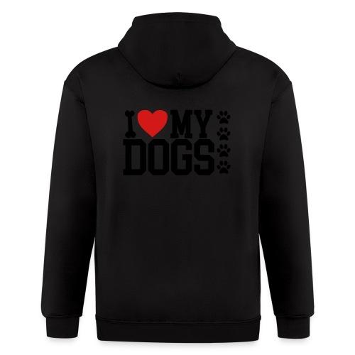 I Love my Dog shirt - Men's Zip Hoodie