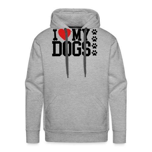 I Love my Dog shirt - Men's Premium Hoodie