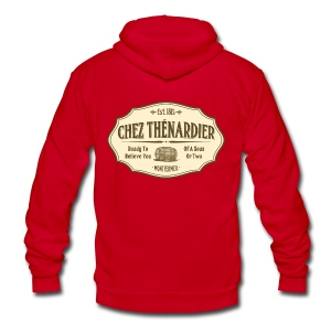 Chez Thénardier - Unisex Fleece Zip Hoodie by American Apparel