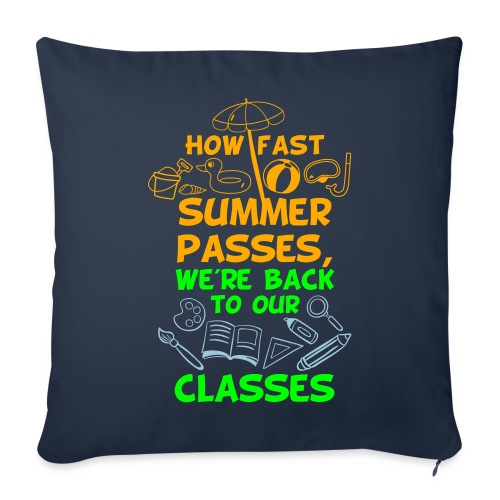 Back to School from Summer - Throw Pillow Cover