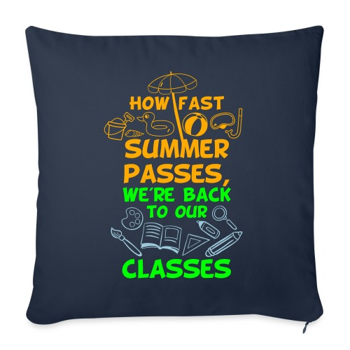 """Back to School from Summer - Throw Pillow Cover 18"""" x 18"""""""