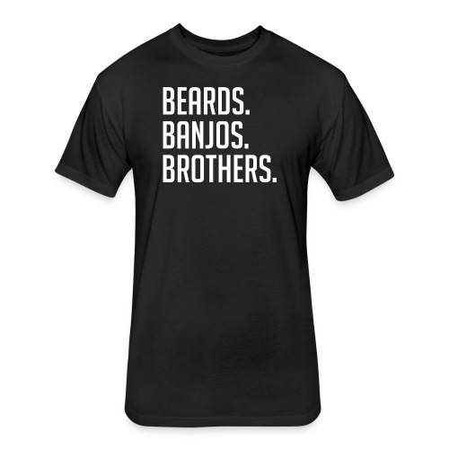 BEARDS BANJOS BROTHERS - Fitted Cotton/Poly T-Shirt by Next Level