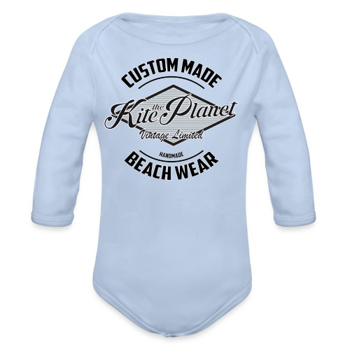 Kite The Planet Custom - Organic Long Sleeve Baby Bodysuit