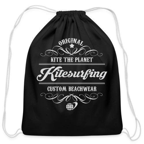 Kite The Planet Kitesurfing Custom - Cotton Drawstring Bag