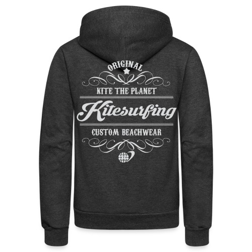 Kite The Planet Kitesurfing Custom - Unisex Fleece Zip Hoodie