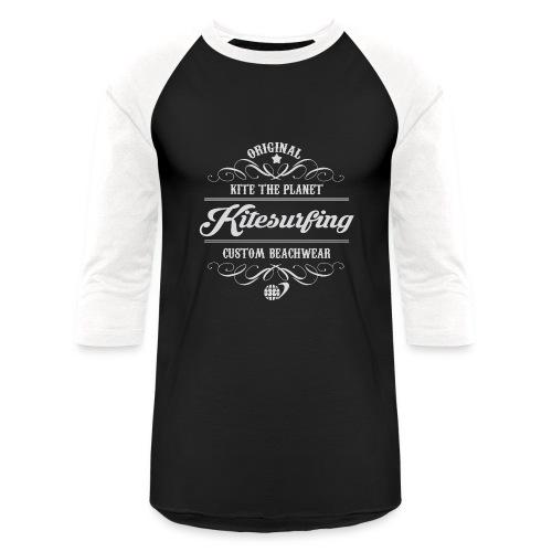 Kite The Planet Kitesurfing Custom - Baseball T-Shirt