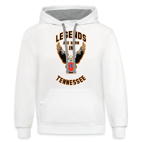 Legends are born in Tennessee - Contrast Hoodie