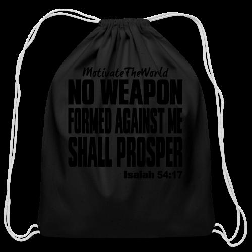 NO WEAPON mens tee - Cotton Drawstring Bag