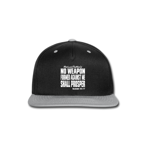 NO WEAPON mens tee - Snap-back Baseball Cap