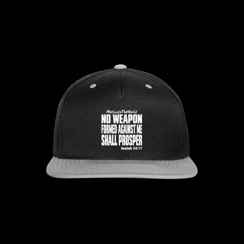 NO WEAPON mens tee - Snap-back Baseball Cap