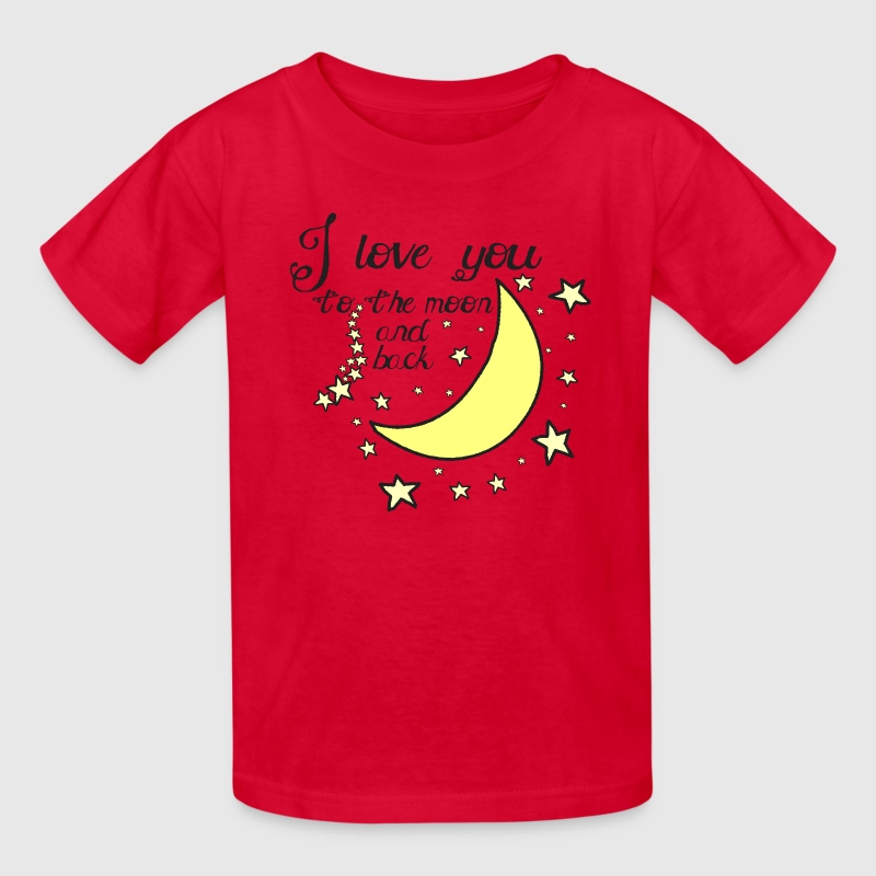 I love you to the moon and back kids t-shirt - Kids' T-Shirt