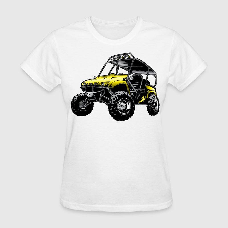 UTV side-x-side yamaha, yellow - Women's T-Shirt